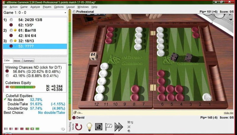 Backgammon Gaming Software